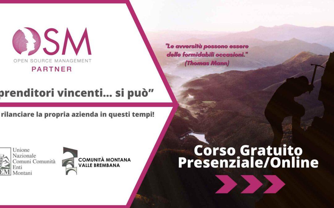 """""""Imprenditori vincenti… si può"""" a Zogno 22/05/21"""